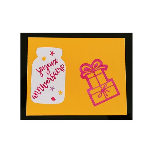 Carte anniversaire avec cadeau