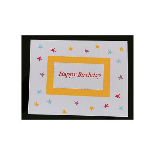 Happy Birthday avec des étoiles