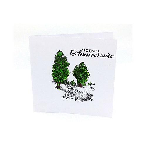Carte anniversaire arbre