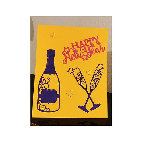 carte de vœux nouvel an, new years card