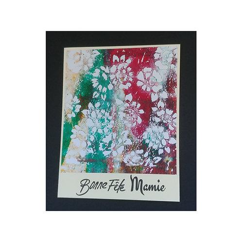 Bonne fête Mamie avec des fleurs