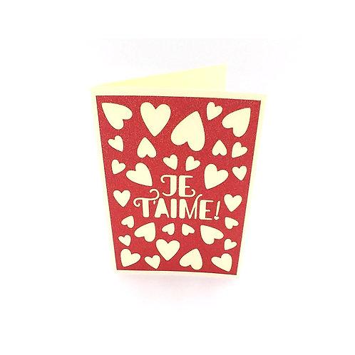 Copie de Copie de Carte en forme de cœur happy valentine's day