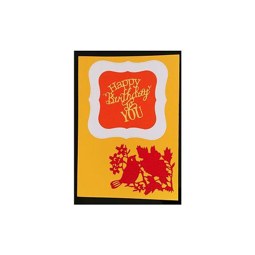 Carte anniversaire oiseau rouge