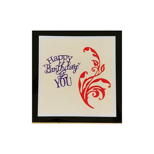 Carte élégante Happy birthday to you