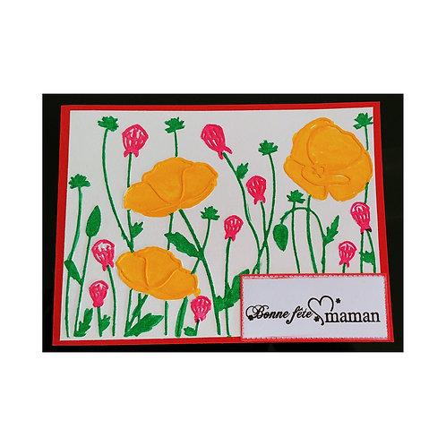 Carte fête des mères en fleur