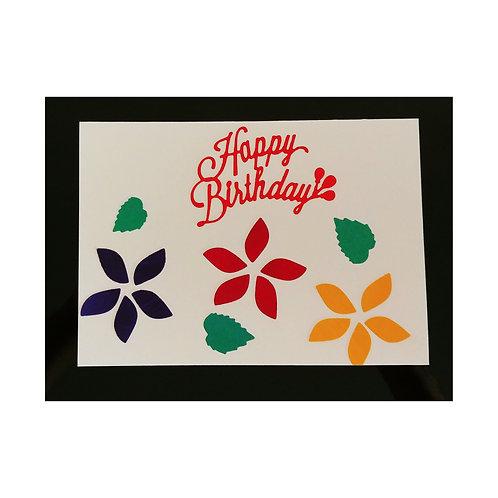 Happy Birthday To You avec des fleurs