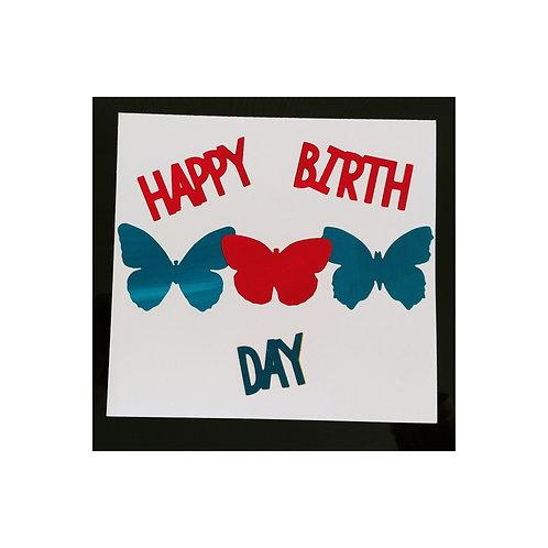 Carte d'anniversaire papillons