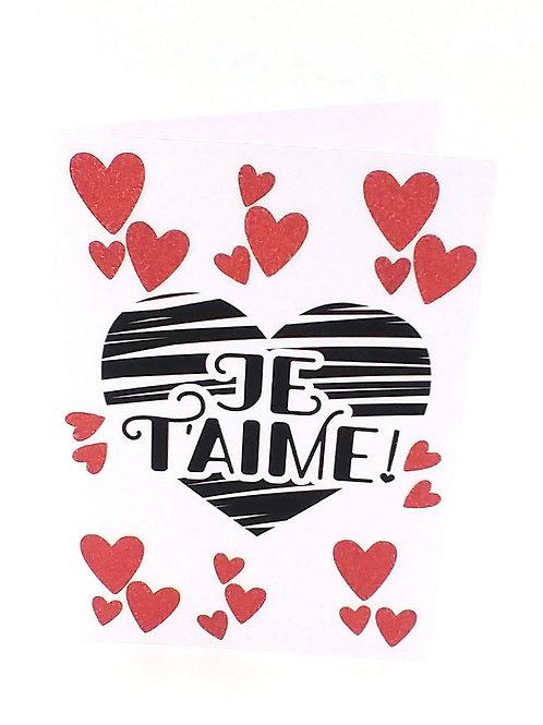 Copie de Carte en forme de cœur happy valentine's day