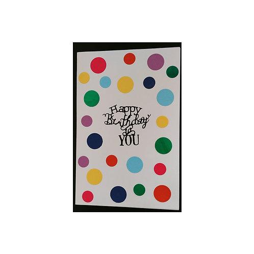 carte anniversaire confettis