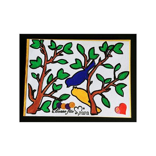 Carte de fête des pères - complicité d'oiseaux