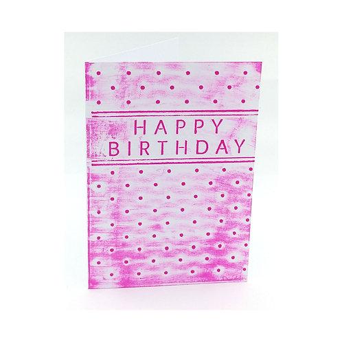 "Carte anniversaire ""happy Birthday"""