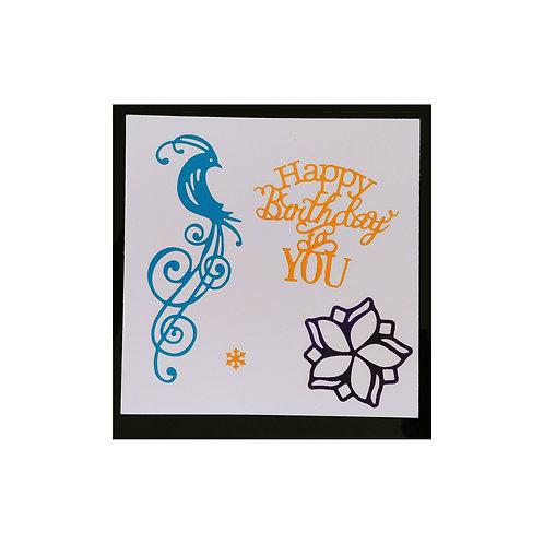 Carte anniversaire oiseau bleu