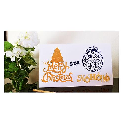 carte de vœux de nouvelle année et de noël