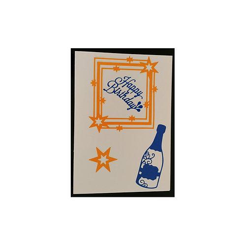 Carte anniversaire champagne