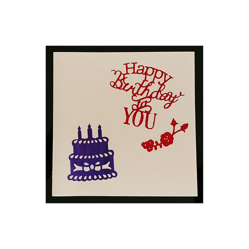 Happy Birthday To You avec gâteau