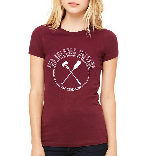 Ladies Two Islands Weekend Tee