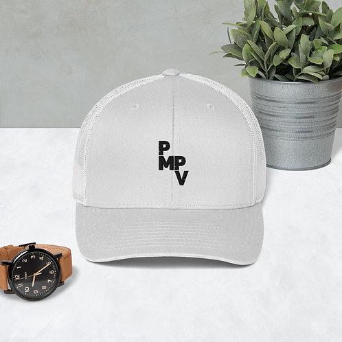 PMPV Black Logo Trucker Cap