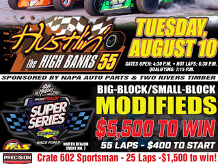 """Short Track Super Series Prepares To Tackle Woodhull In The """"Hustlin' In The High Banks 55"""""""