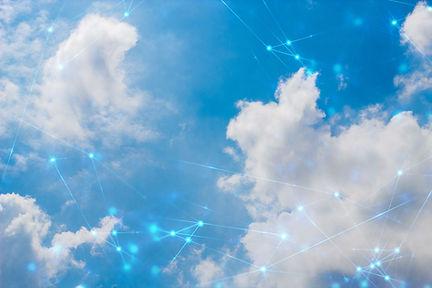 social network, sky backround, futuristi