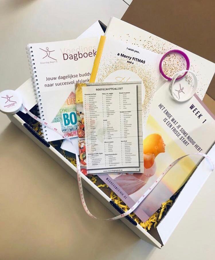 de volledige box met alles wat je nodig hebt om succesvol te vermageren