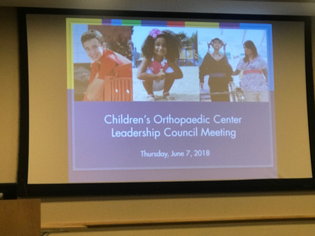 Children's Orthopedic Center Leadership Council Meeting