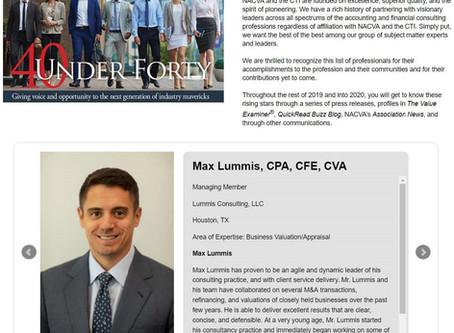 Max Lummis Again Named NACVA 40 Under 40