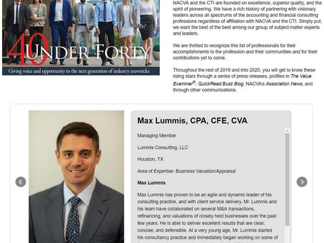 Max Lummis Again Named NACVA 40 Under 40