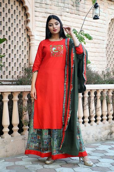 Red & Green Sharara