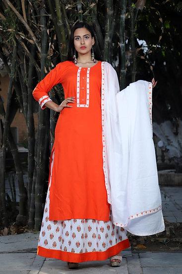 Hot Orange Sharara