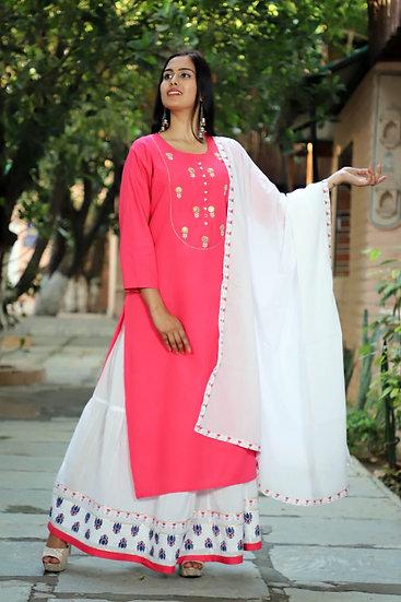 Hot Pink Sharara