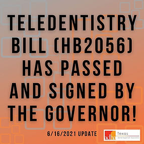 The Teledentistry bill HB2056 will be he