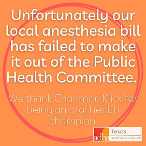 Unfortunately our local anesthesia bill