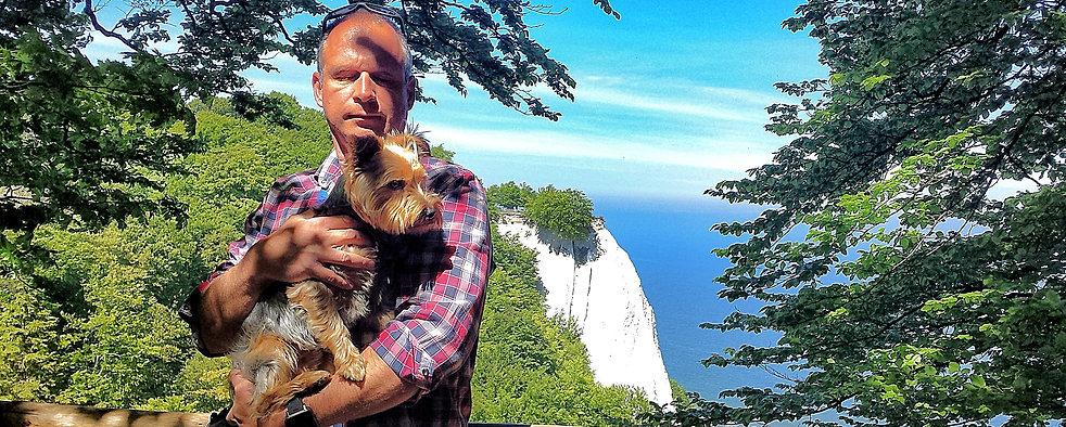 Sven Vogel mit Hund Benny