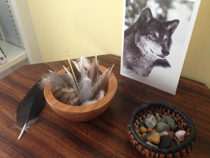 Stone and Feather bowls
