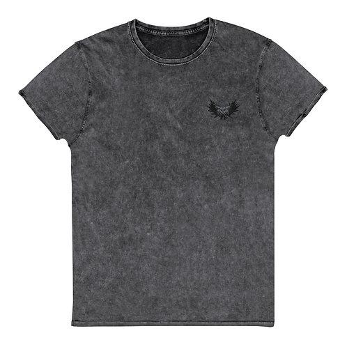 Skull Crow - Denim T-Shirt