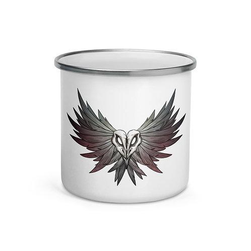 SKULL Crow - Enamel Mug