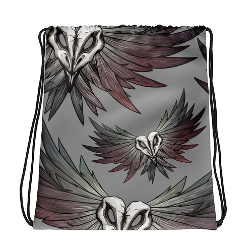 SKULL Crow - Drawstring bag