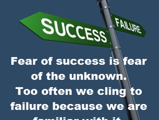 Fear of Success aFaileth Much