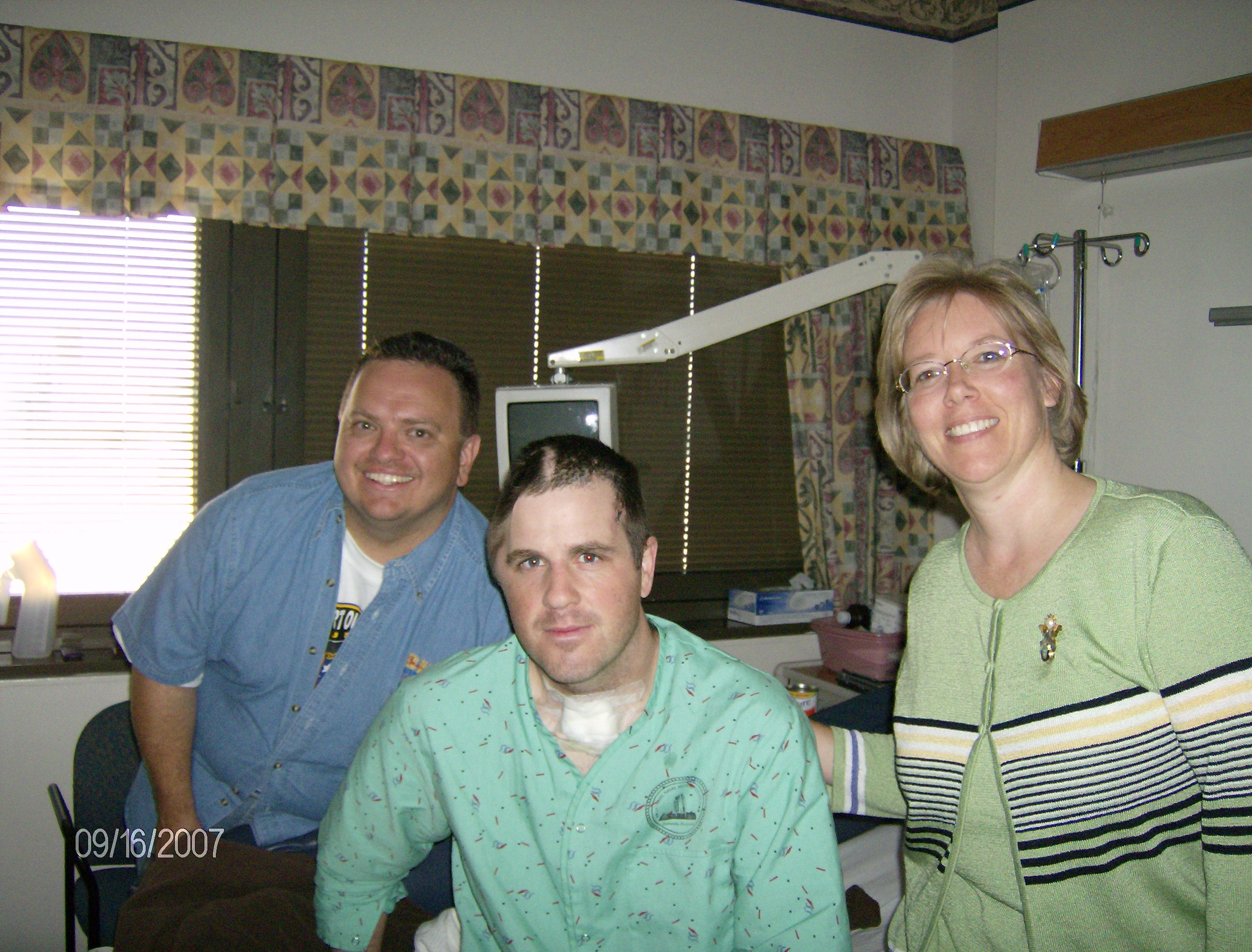 VISITING WOUNDED WARRIORS