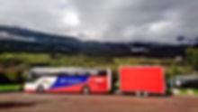 Ole Kristian Temte Norwegian Rallycross Team Bus Trailer Scania Italy Sponsors