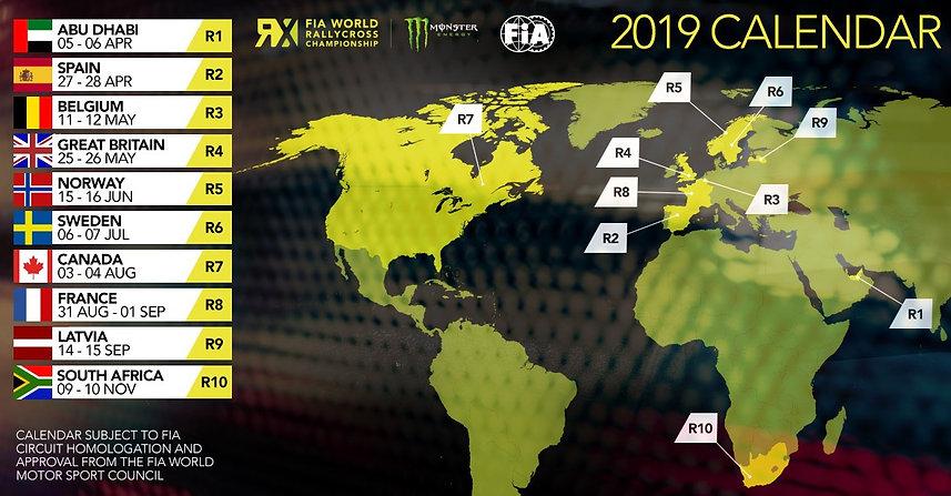 FIA Wolrd RX 2019 Calendar Ole Kristian