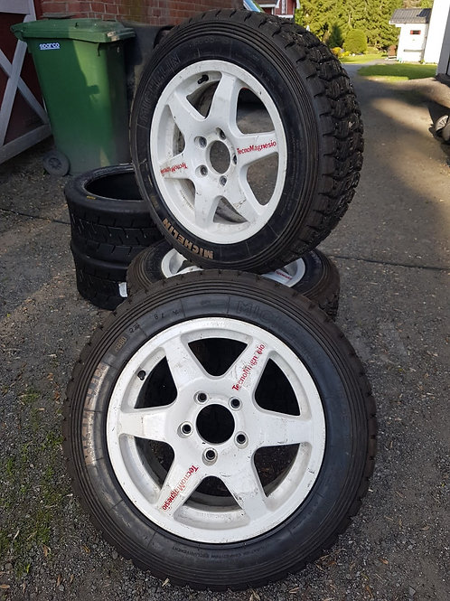 """4 stk. TecnoMagnesio felg 16"""" (BMW bolts)"""