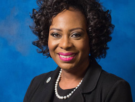 Karen Johnson honored by Tennessee State University as one of the 2019 Women of Legend and Merit.