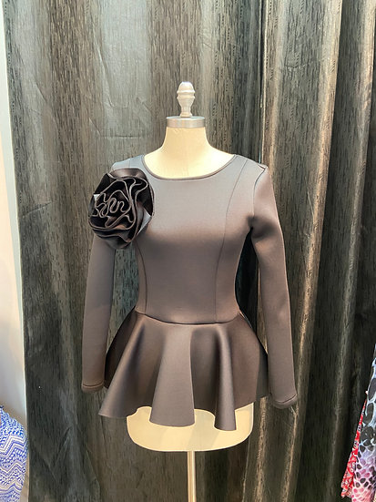 Peplum Top w/Flower Patch