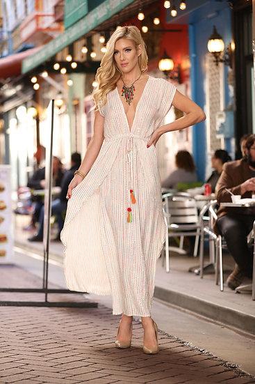 LUREX DRESS MULTI WITH SIDE SLITS