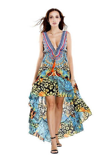 Wild Kenya High-Low Dress
