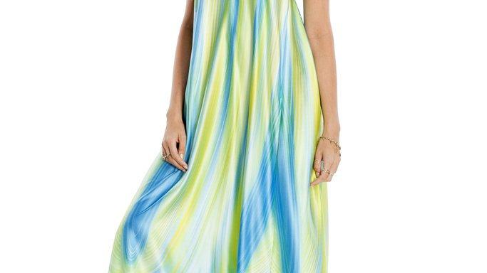 T-Back Maxi Dress With Pockets