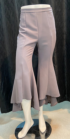 Grey Hi-Low Pants