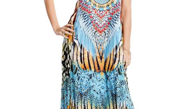 FB 406 Wild Kenya T-Back Dress