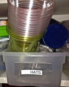 "This box, clearly labeled ""Hats"" contains exactly zero hats."